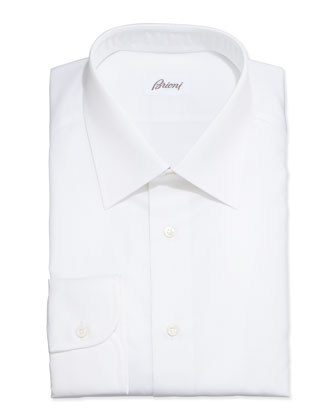 Micro-Stripe Dress Shirt, White