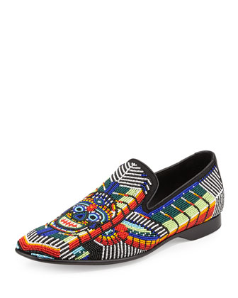 Pascow Men's Beaded Loafer, Multi