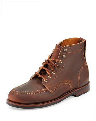 Sawyer USA Leather Boots, Chestnut