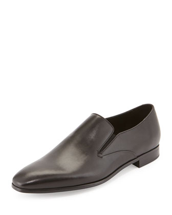 Leather Slip-On Loafer, Black