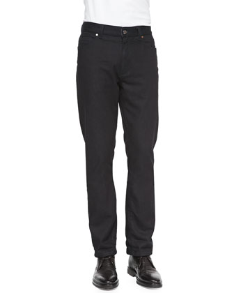 Cotton/Cashmere Denim Jeans, Navy