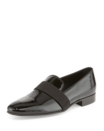 Patent Tux Slip-On, Black