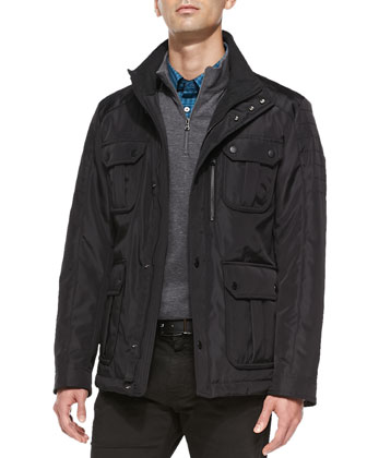 Nylon Field Jacket, Black