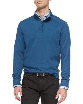 Half-Zip Pullover, Emerald