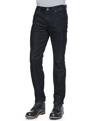 Slimmy Grid-Flocked Denim Jeans