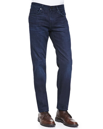 Kane Straight-Leg Denim Jeans, Krantz Dark Wash