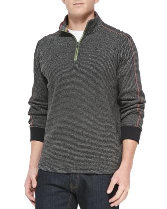 Falconer 1/4-Zip Pullover Sweater, Black