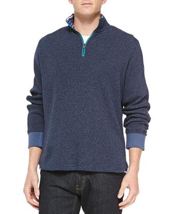 Falconer 1/4-Zip Pullover Sweater, Navy