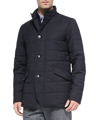 Elements Trofeo Quilted Field Jacket, Navy