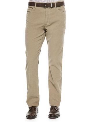 5-Pocket Corduroy Trousers, Brown