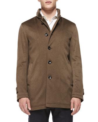 Solferino Cashmere Coat, Brown