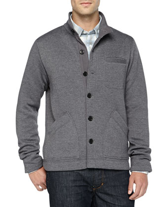 Ashe Cardigan Sweatshirt & Long-Sleeve Checkered Shirt