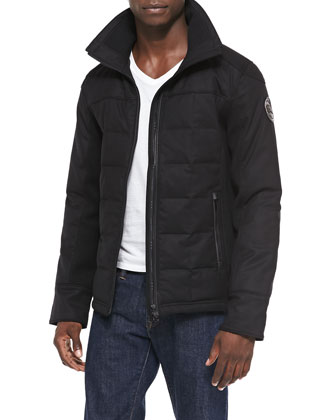 Stirling Slim Short Puffer Jacket, Black