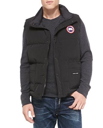 Freestyle Puffer Vest, Black