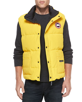 Freestyle Puffer Vest, Yellow