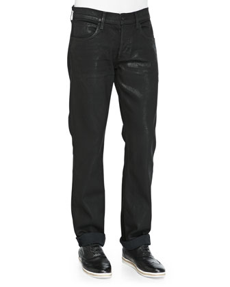 Byron 5-Pocket Straight Leg Jeans, Black