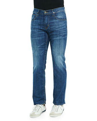 Byron Relentless Straight-Leg Jeans, Medium Blue