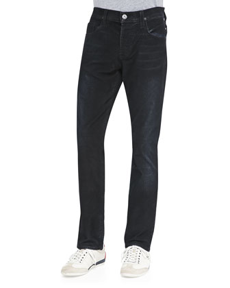 Sartor Coated-Cord Jeans, Navy