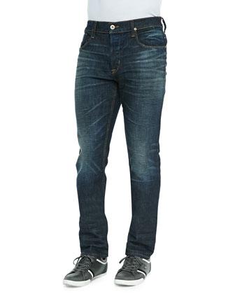Sartor Nomad Straight-Leg Jeans, Navy