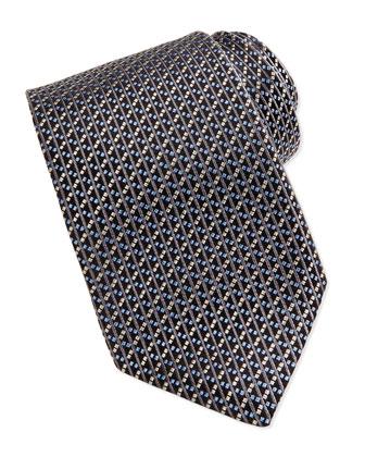 Basket Weave Tie, Gray