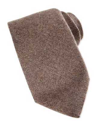 Cashmere Woven Tie, Taupe