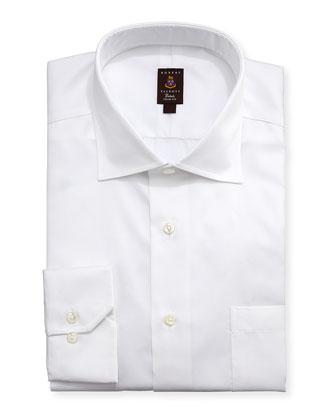 Micro-Pique Trim Fit Dress Shirt,White