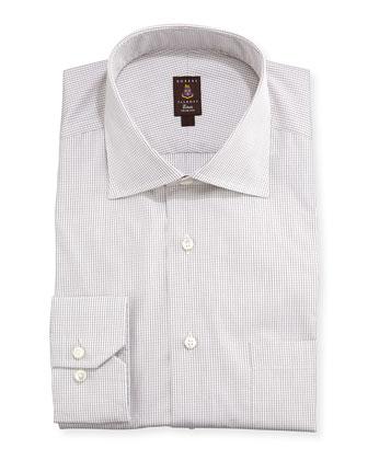 Mini-Graph Check Dress Shirt, Brown