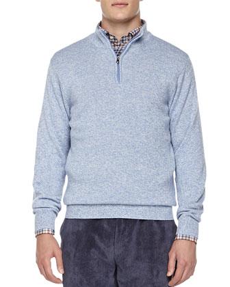 Firenze 1/4-Zip Pullover Sweater, Plaid Button-Down Shirt & NanoLuxe ...