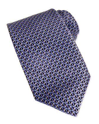 Basket Weave Tie, Purple