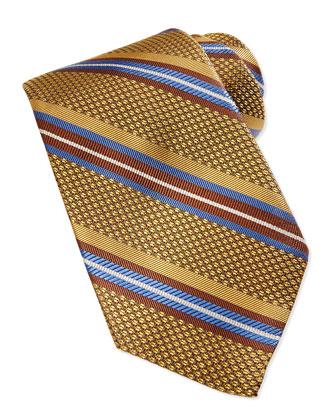 Grenadine Stripe Tie, Gold