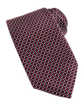 Basket Weave Tie, Burgundy
