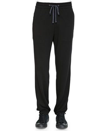 French Terry Sweatpants, Black