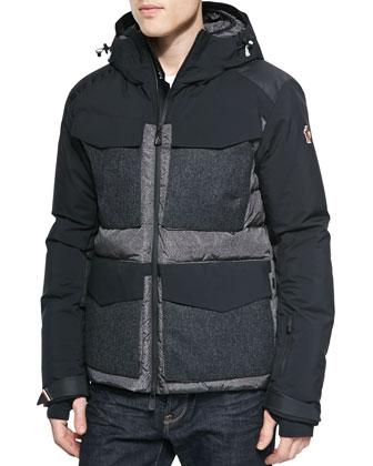 Calvi Wool-Pocket Puffer Jacket