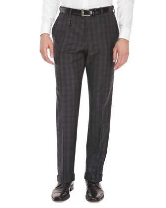Benson Check Flannel Trousers