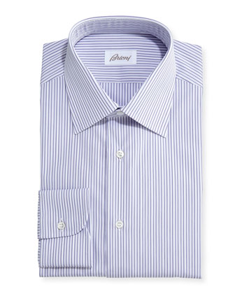 Satin Stripe Dress Shirt, Lavender