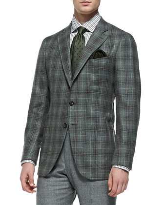 Plaid Soft Jacket, Green