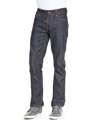 Thin Finn Dry Twill Jeans, Dark Blue