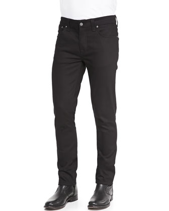 Grim Tim Saturated Denim Jeans, Black
