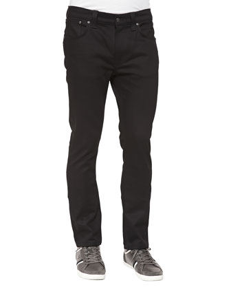 Thin Finn Saturated Black Jeans