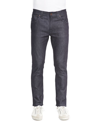 Thin Finn Straight-Leg Jeans, Dark Gray