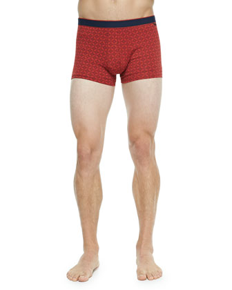 Star 3 Hipster Boxer Briefs, Medium Orange