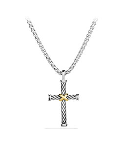David Yurman Cable Classics Cross Necklace