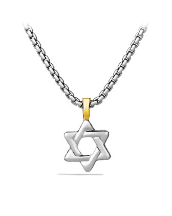 Cable Classics Star of David with Gold on Chain
