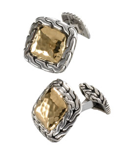 John Hardy Palu Square Cuff-Links