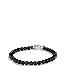 David Yurman 6mm Black Onyx Spiritual Bead Bracelet, 8 1/2""