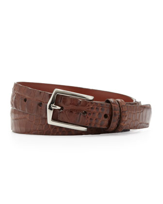Hornback Alligator Belt, Brown