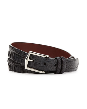 Hornback Alligator Belt, Black