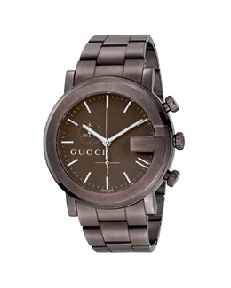 Gucci XL PVD G Chronograph, Brown