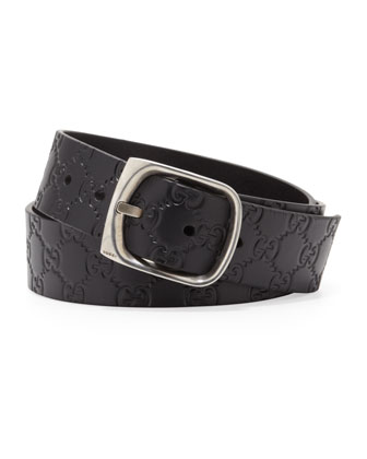 Guccissima Leather Belt