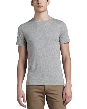 Crewneck Tee, Light Heather Gray